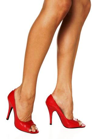 red high heels  irv o neil's erotica is my trade