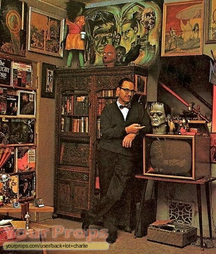 Forrest J Ackerman in the Ackermansion in the mid-20th century