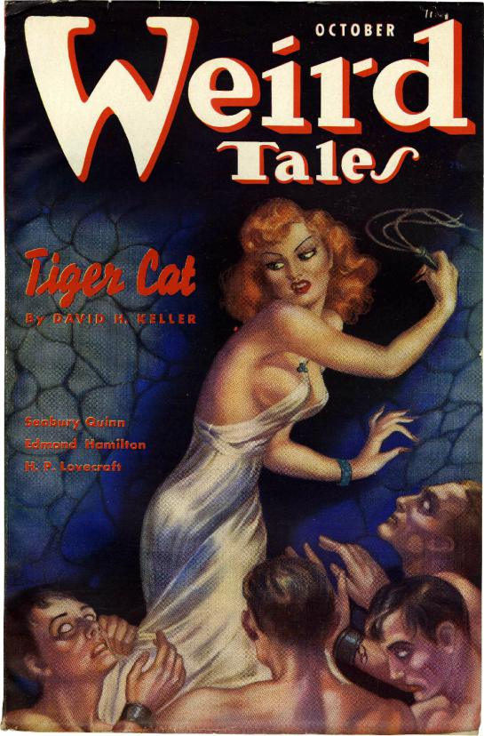 This wild cover is by Margaret Brundage, Weird Tales' premier cover artist.